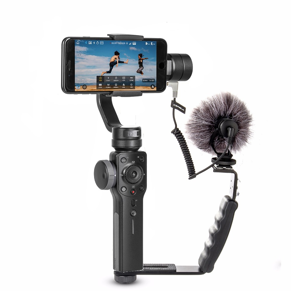 Zhiyun suave 4 smartphone 3 eixos cardan estabilizador móvel steadicam vídeo para iphone/android câmera de ação