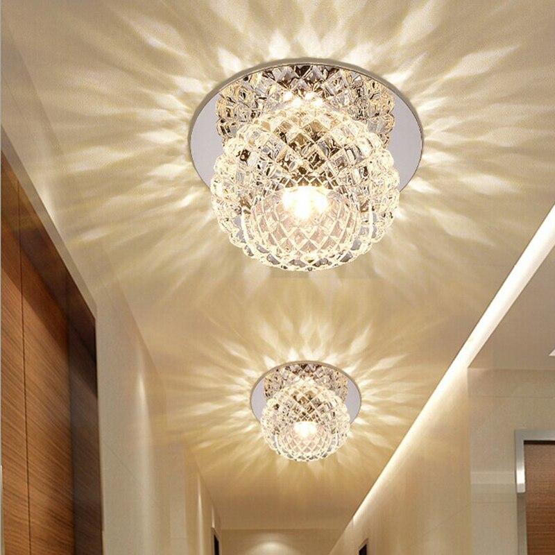 5W LED Crystal Light Chandelier Lighting for Aisle Porch Hallway Stairs with LED Light недорго, оригинальная цена