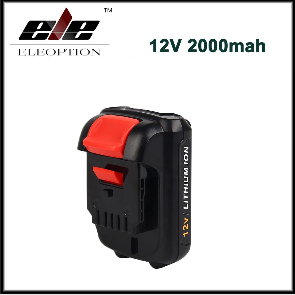 Eleoption 12V 2.0Ah Li-ion Replacement Battery for DEWALT DCB120 DCB127 DCD710 DCD710S2 DCF610 DCF610S2 DCF813S2 DCF815