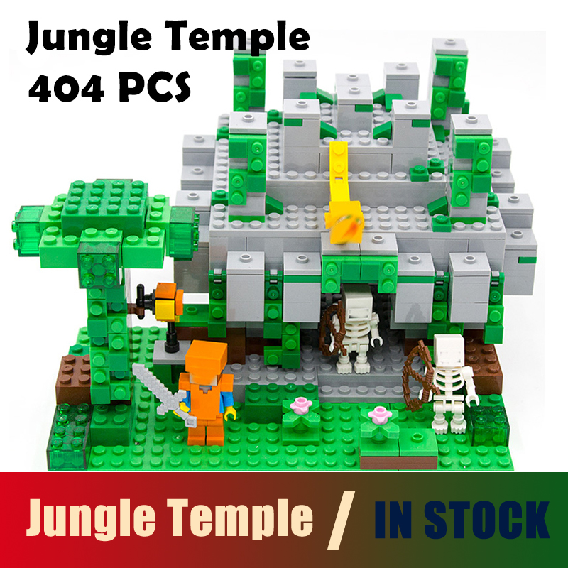 Compatible with lego 18026 Model building kits 21132 my worlds MineCraft The jungle temple Educational toys hobbies for children model building kits compatible with lego the sky dragon my worlds minecraft 548 pcs model building toys hobbies for children