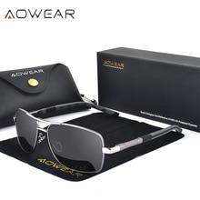 AOWEAR, Ретро стиль, квадратные солнцезащитные очки, мужские, поляризационные, зеркальные, солнцезащитные очки для мужчин и женщин,, винтажные, затемненные очки, Oculos Gafas De Sol