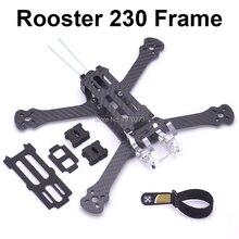 "Rooster 230 225 мм 5 ""FPV гоночный Дрон Квадрокоптер рамка 5 дюймов FPV рама для фристайла для хамелеона петуха 230 мм"
