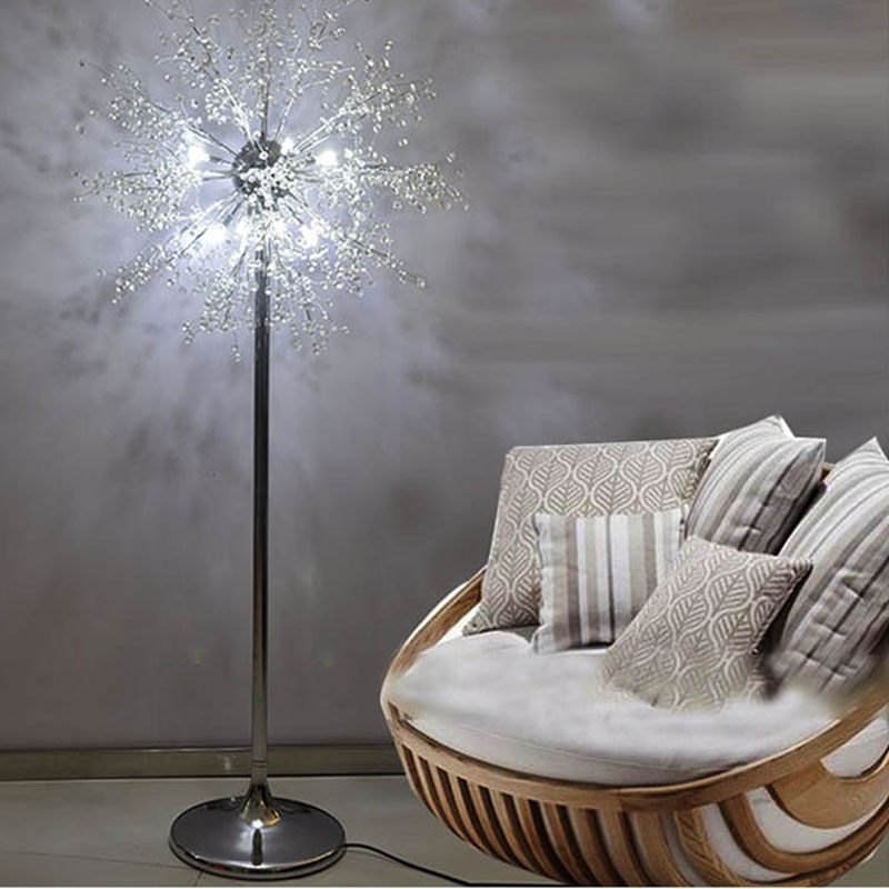 LED Imitate Crystal Floor Lamp Floor Stand Light Fixture Cristal Lustre Wedding Standing Lamp Centerpiece Acryl  home hotel