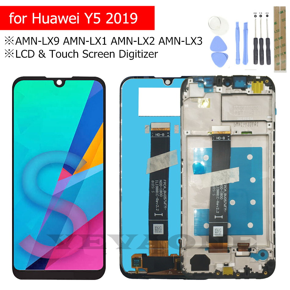 for Huawei Y5 2019 LCD Display Screen Touch Digitizer with Frame LCD Display Repair Parts  AMN LX9 AMN LX1 AMN LX2 AMN LX3-in Mobile Phone LCD Screens from Cellphones & Telecommunications