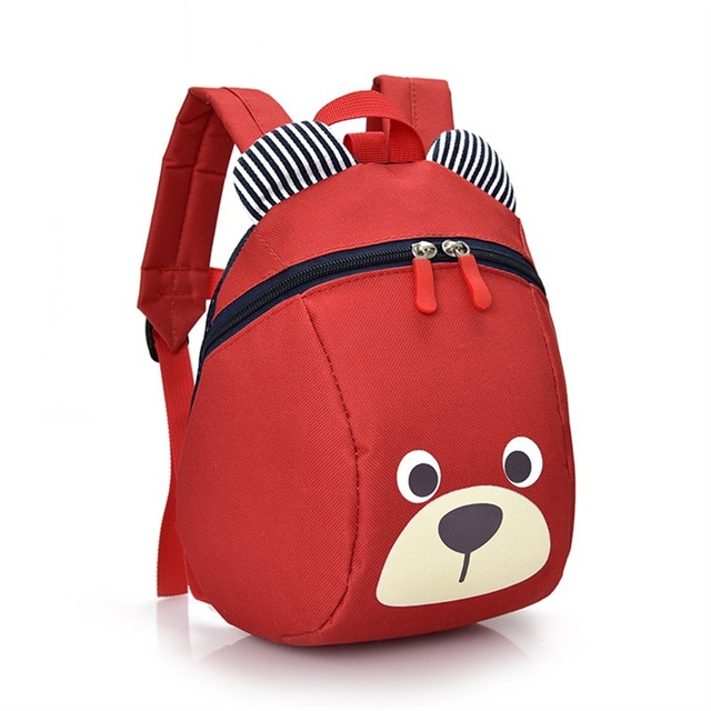 aged 1-3 years old safety bag canvas harness toddler cartoon bear anti lost backpack for girls boy kids children walking harness