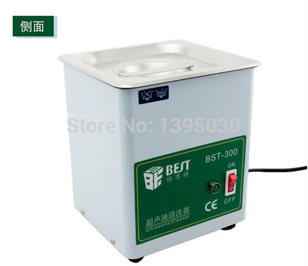1pc Stainless Steel Ultrasonic Cleaner Ultrasonic Cleaning Machine Capacity 1.8L (150X137X100 mm)220V 50W