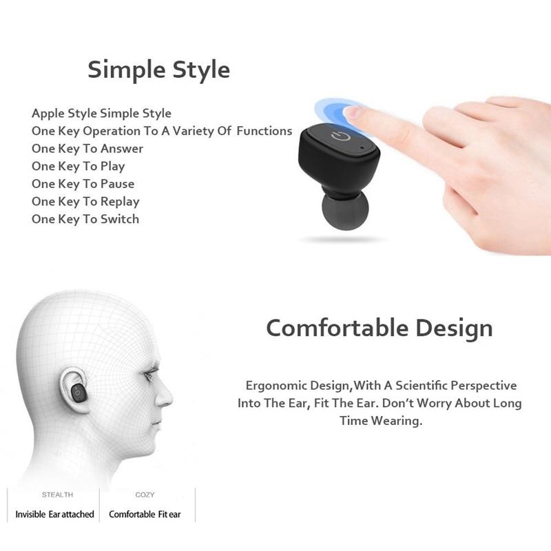 M&J S2 Portable Mini TWS Wireless Bluetooth Earphone Stereo Handsfree IPX7 Waterproof Sport Headset For Phone Earbuds