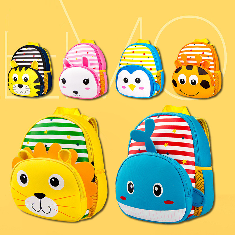 Plush Backpacks Dolls & Stuffed Toys Cute Tiger Kids Backpack Toy Plush Animal Backpack For Children The Kids Shoulder Bag Travel Backpack