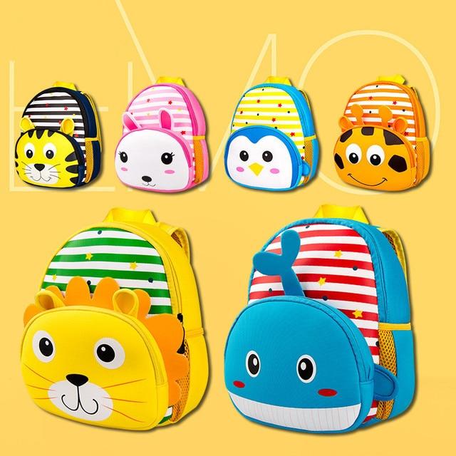 3D Cute Animal Design Backpack Kids School Bags for Girls Boys Lion Tiger  Cartoon Waterproof Children Backpacks da mochila 92e6856178876