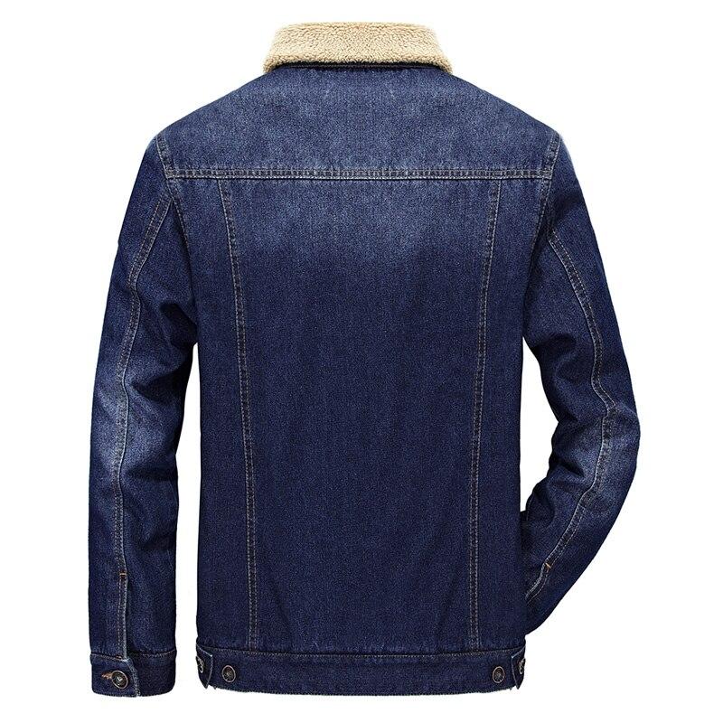 Chaqueta Denim Caliente Cuello yeson Masculino Estilo Invierno In Del Los De azul Negro Espesar Casaco Piel Europeo Marca Hombres Jeans zq6Ydwz