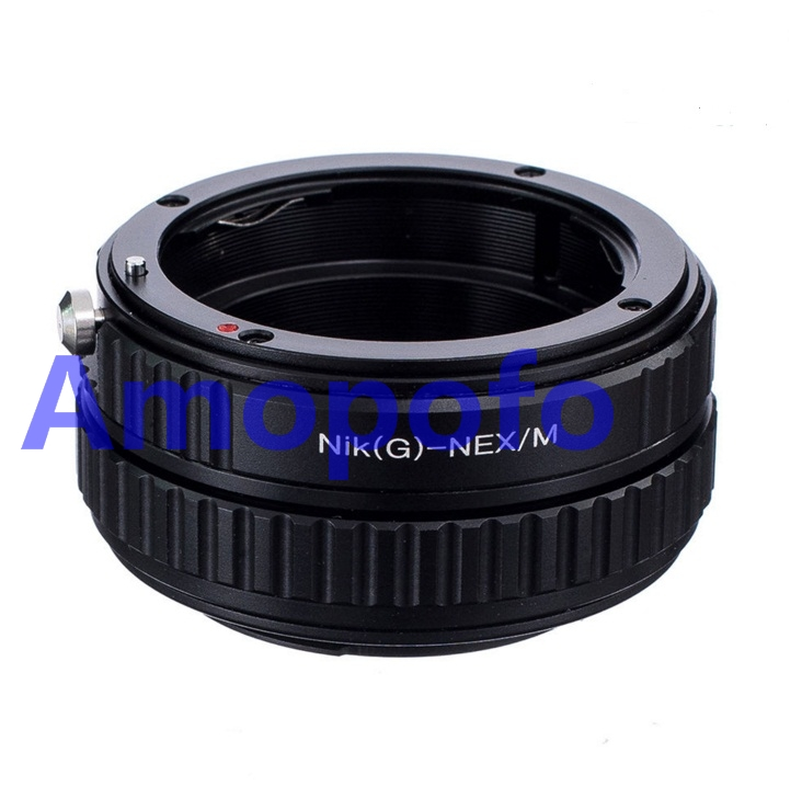 Amopofo For Nikon G-NEX/M Adapter for Nikon F AF-S G Lens to SonyE Mount Adapter NEX Macro Focusing Helicoid A6000 7