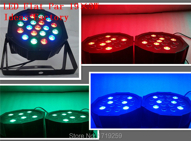 ФОТО American DJ LED Flat Par SlimPar No Noise 19x3W RGB  3/7Channels