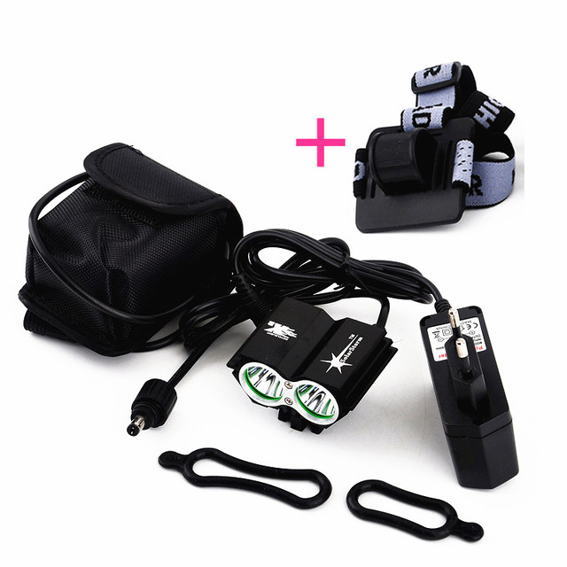 LED Bicycle Light HeadLight Rechargeable Bicycle LED Light, 3 Mode Waterproof Bike Front Light LED HeadLamp