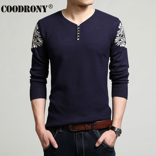 2016 New Arrival Fashion Pattern Sweater Men Winter Thick Warm Knitted Cashmere Wool Pullover Men Brand Clothing Slim Fit T 6644