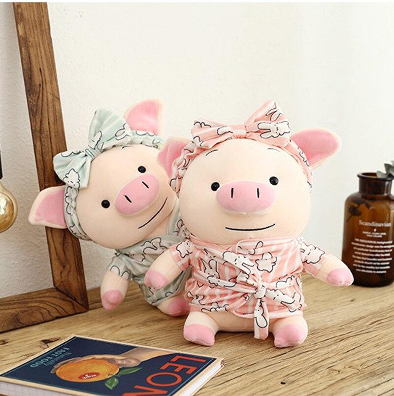 Cute Pig Stuffed Animal Pillow Plush Soft Doll Toy  Kid Birthday Gift Hot