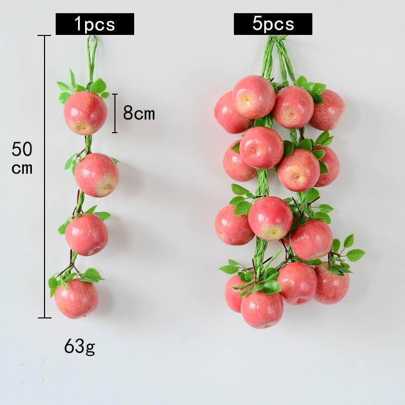 5pcs Artificial Hanging Chili Pepper String Simulation Vegetable Farm Shop