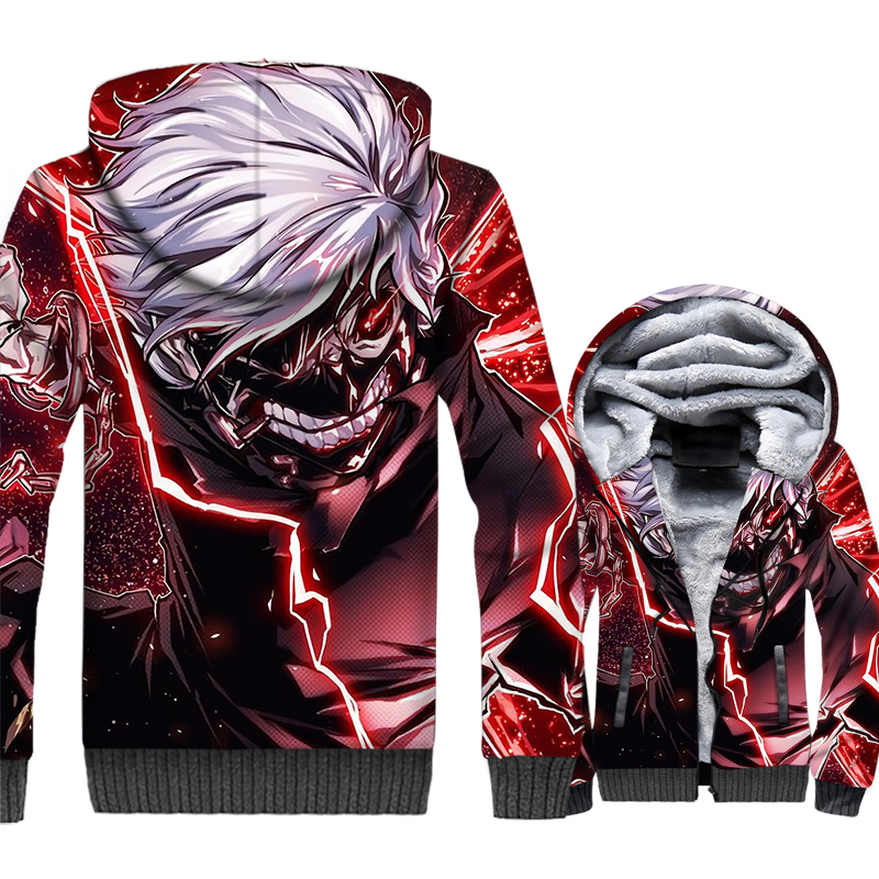 Sweatshirts For Men Hoody 2018 Autumn Winter Fleece Jacket Anime Tokyo Ghoul Gothic Men 39 s Hoodies Harajuku 3D Streetwear Hoddie in Hoodies amp Sweatshirts from Men 39 s Clothing