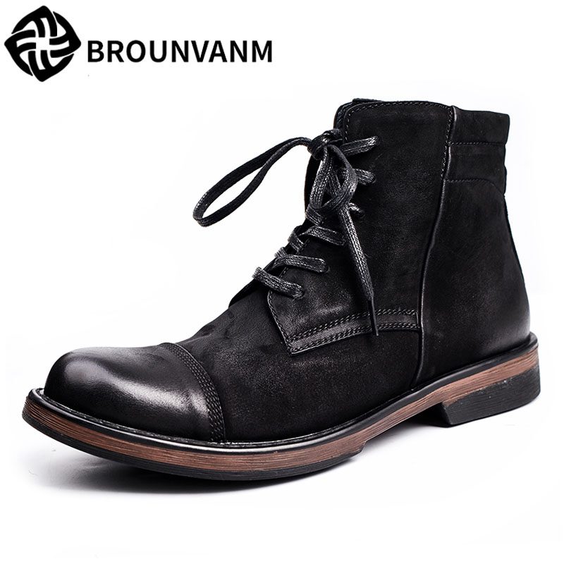2017 new autumn Martin Retro British boots, men's boots, high shoes, fall trendboots in europe and america heavy bottomed martin boots british style high top shoes shoes boots sneakers