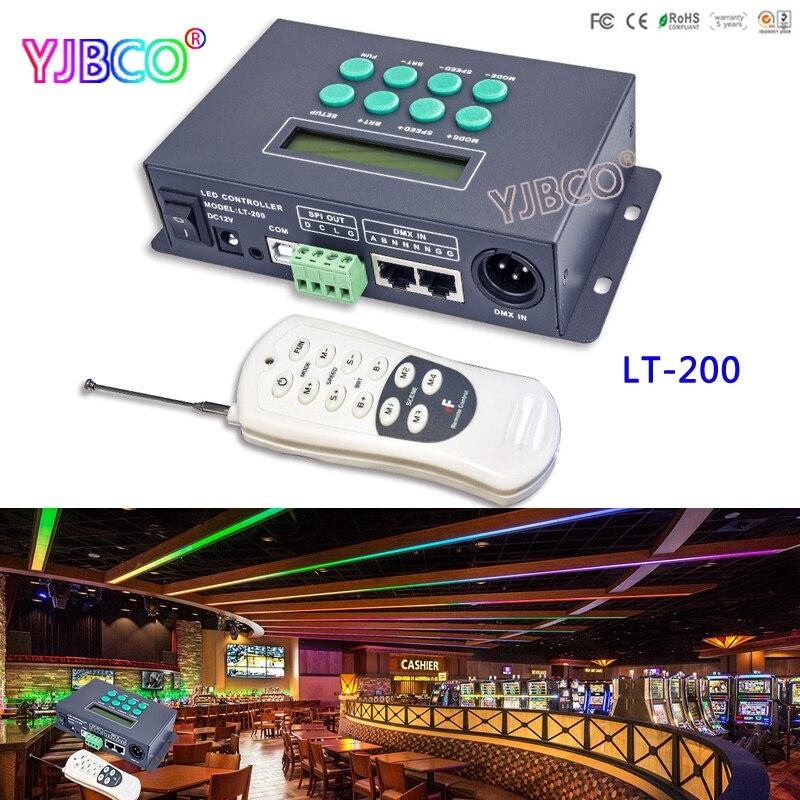 LTECH LT-200 Digital led controller WS2811 WS2812B LPD6803 LPD8806  Pixel strip SPI(TTL) signal output;1024 pixels with Remote dc5v 12v digital led striplpd6803 8806 ws2811 ws2812b sd card dmx controller pixel led remote controller ws2801 controller