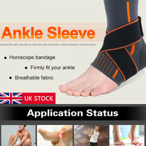 2019 Medical Ankle Support Strap Compression Wrap Bandage Brace Neoprene Foot Men Socks