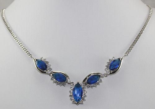 Mulheres palavra Amor Moda feminina Jóias Presente HOT! moda jóias Nobby Azul inlay Colar de Cristal 18kgp