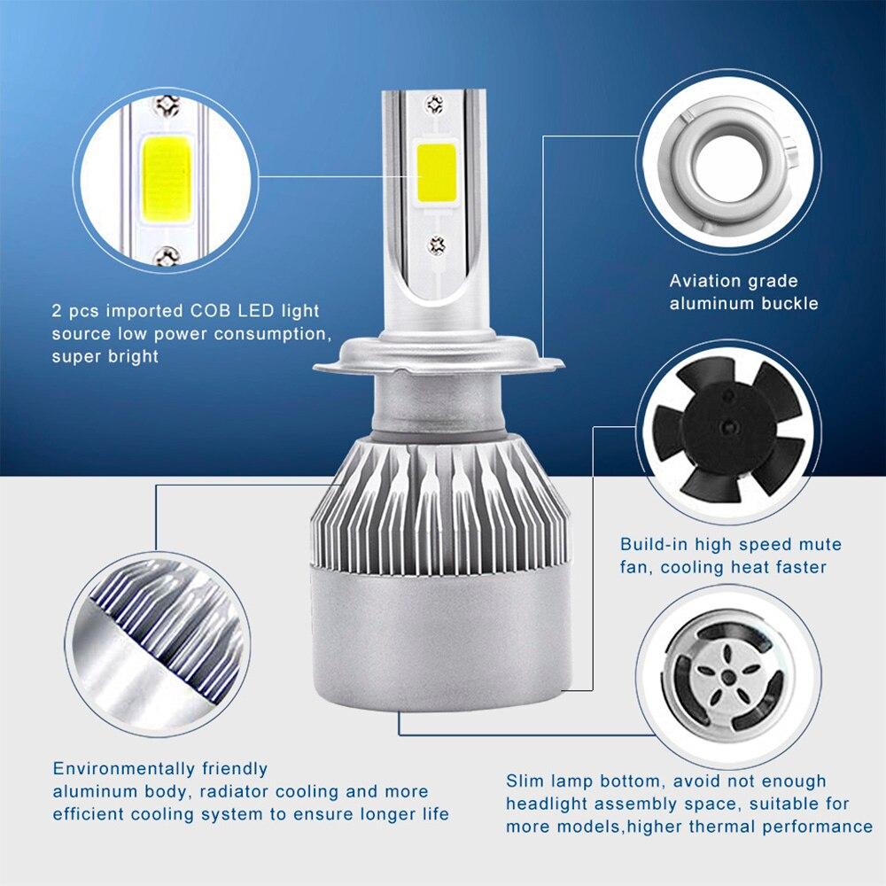 LED COB avtomatik fara farası duman farası Dönüşüm dəsti 6000K - Avtomobil işıqları - Fotoqrafiya 2