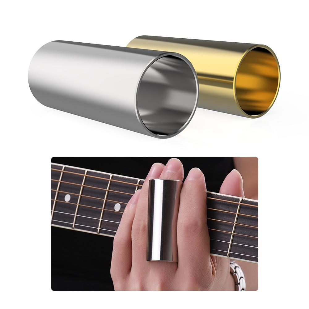 Acoustic Guitar Slide 2pcs Stainless Steel Slides 6cm Long for Guitar Bass Ukulele Banjo Guitar Parts & Accessories