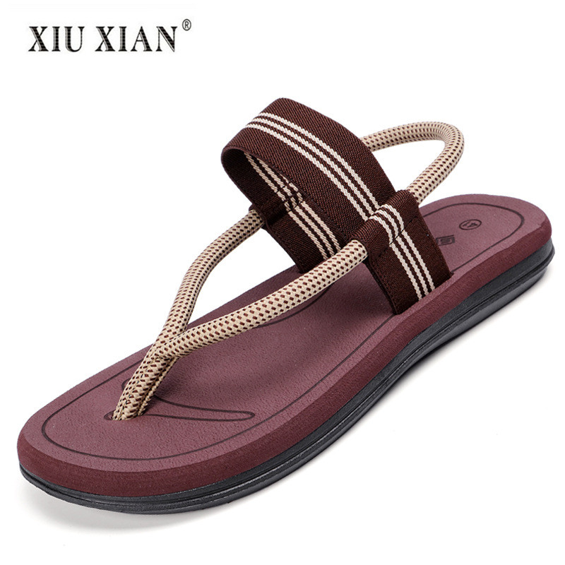 2018 Summer New Fashion Lovers Flip Flops Thick Sole Non Slip Comfort Beach Slippers Waterproof Big Size Men Home Floor Slippers