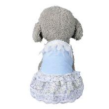2017 New Pet Dog Cat Cotton Sleeveless Skirt Chiffon Rose Dress Dog Clothes