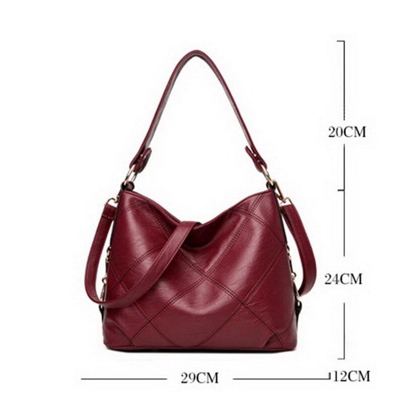 01a7de3a9c FUNMARDI High Quality Patchwork Women Handbags PU Leather Women Shoulder  Bags Brands Women Bucket Bags Casual Tote Bags WLHB1710