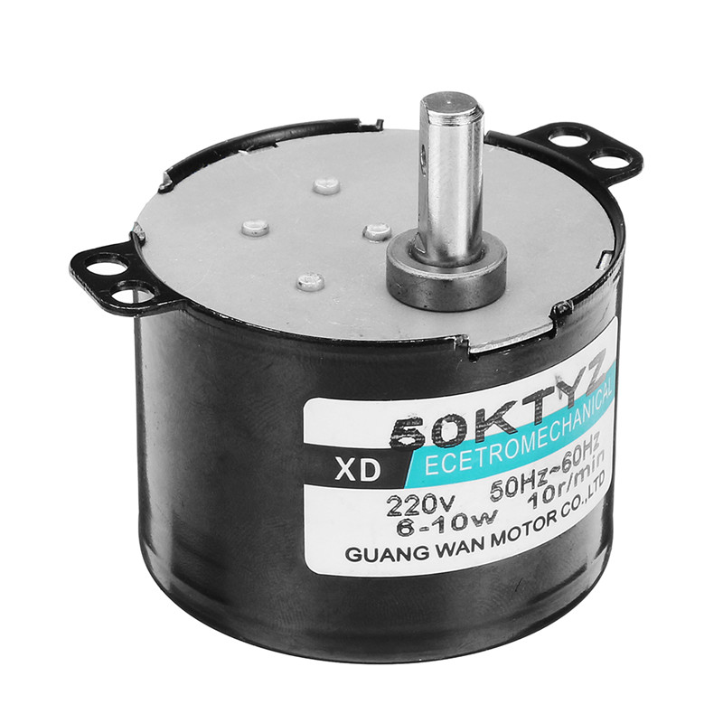 Brand New 50KTYZ AC <font><b>Motor</b></font> <font><b>220V</b></font> Synchronous <font><b>Motor</b></font> 10W Permanent Magnet <font><b>Gear</b></font> Reduction <font><b>Motor</b></font> Controllable Micro Moteur image