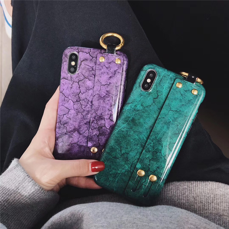 3D Luxury metal marble wrist bracket with ring phone case for <font><b>iphone</b></font> X XS MAX XR 7 8 <font><b>6</b></font> 6S plus Fashion soft silicone <font><b>cover</b></font> coque image