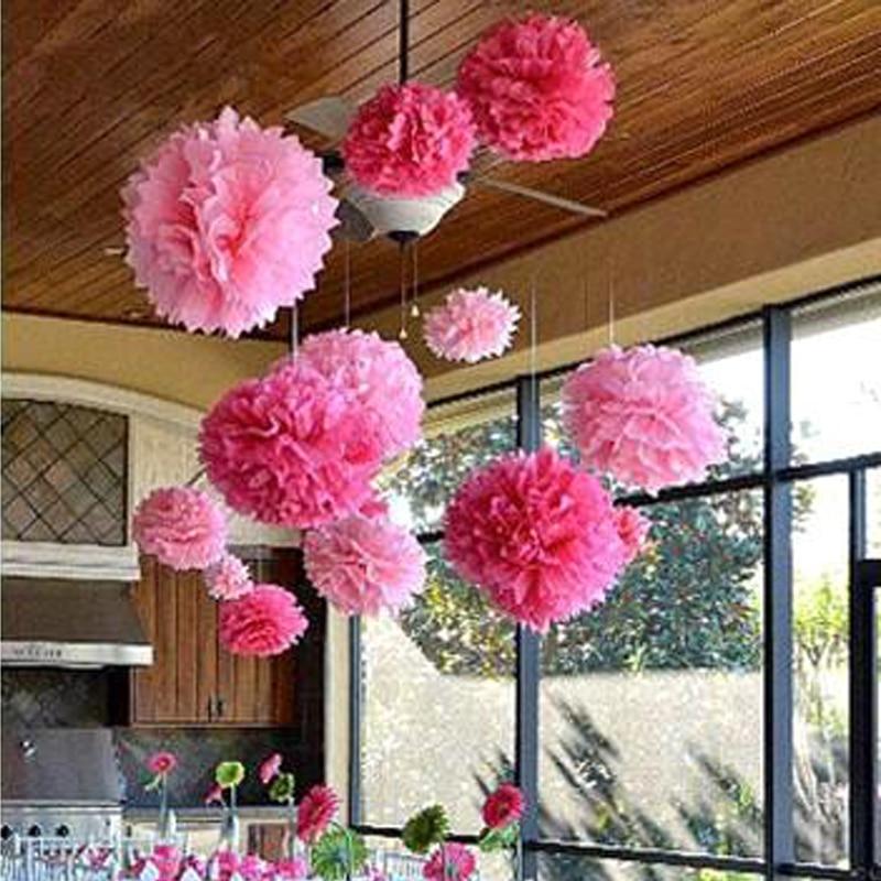 6inches 15cm 20pcs Diy Multi Colour Paper Flowers Ball Wedding New