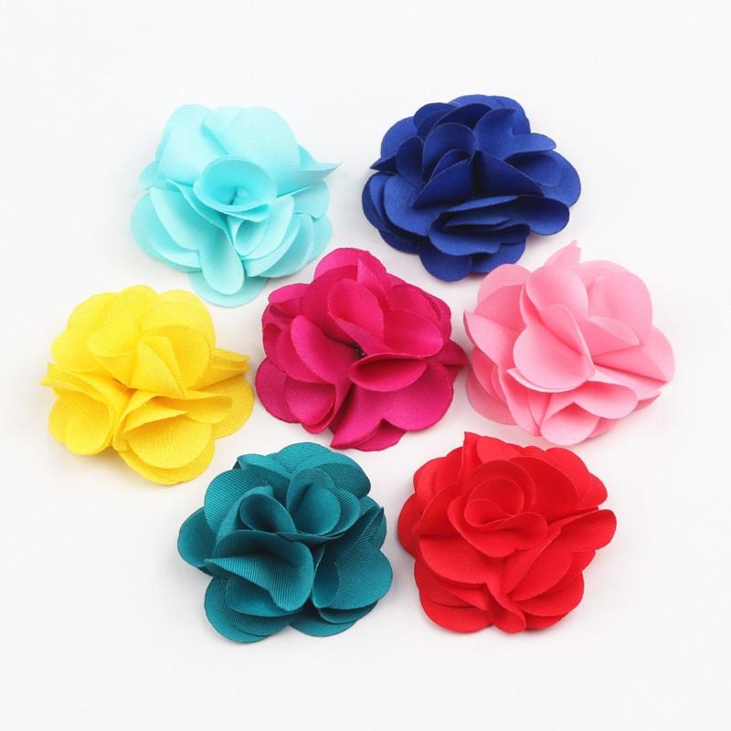 Fashion 10Pcs Cloth Fribric Flower Charm Fringed Flat Base Tassel For DIY Cloth Decoration