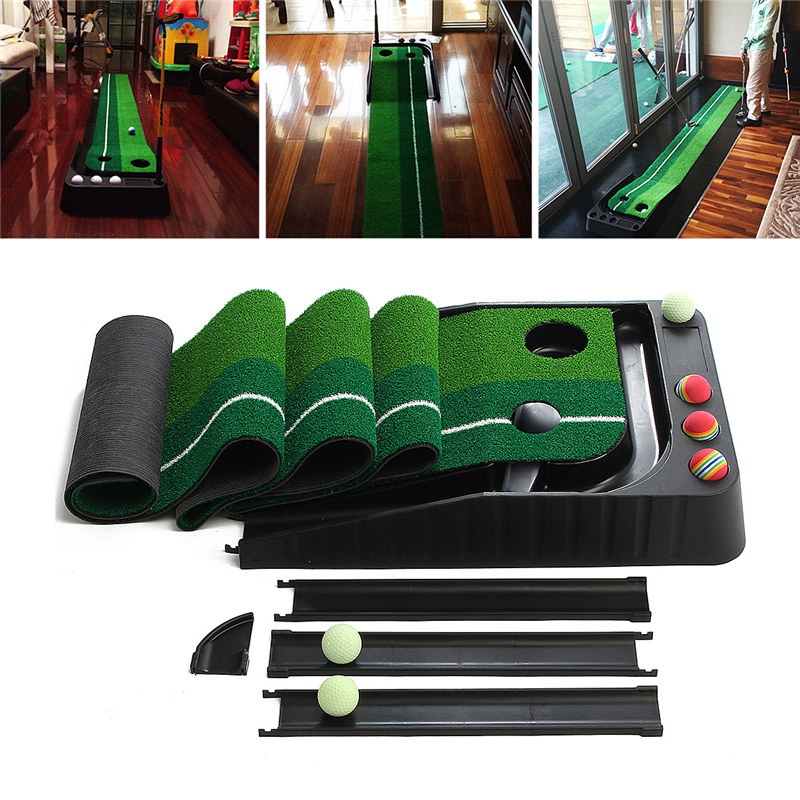 Top Board Game Gifts Indoor Golf Putter Trainer Practice Set With 6 balls Training Mat Indoor Golf Putting Putter training aids watch ya mouth game fun mouthguard party board game