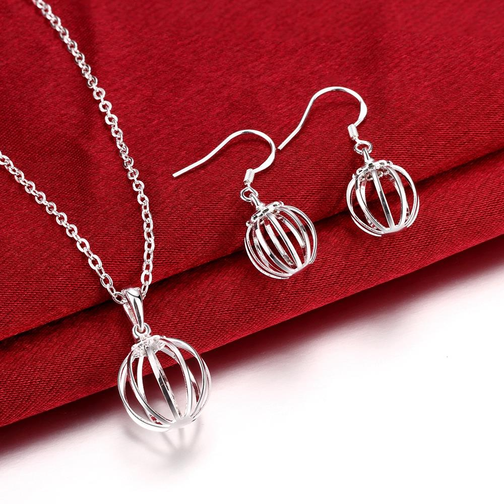 Fashion Silver Jewelry Set Necklace And Drop Earrings Pretty Cool Party  Jewelry Top Quality Cheap Hot