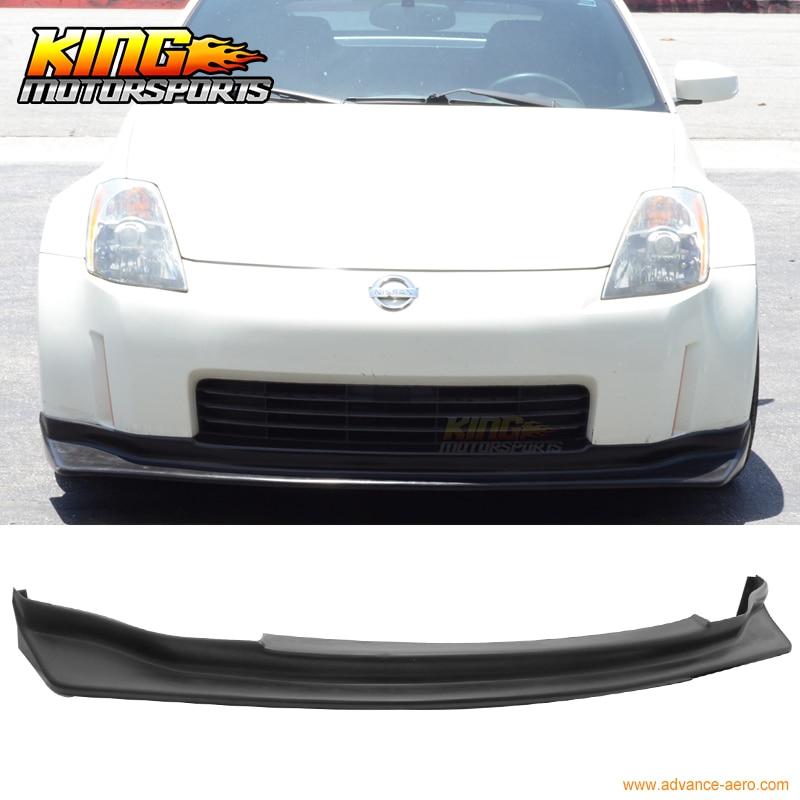 For 2003-2005 04 Nissan 350Z JDM N-Style Front Bumper Lip PU 350z v6 carbon fiber engine bonnets trim for nissan 350z z33 2003 2004 2005 2006