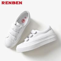 Women Sneakers Fashion Platform Casual Shoes PU Leather Low Slip on Increasing Ladies White Black shoes Designer