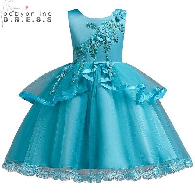 Vestidos de Primera Nova Chegada Apliques Flower Girl Dresses 6 Bonito Cores Do Laço Meninas Vestido de Primeira Comunhão Vestidos