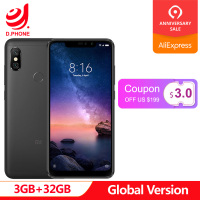 Global Version Xiaomi Redmi Note 6 Pro 3GB 32GB 6.26 19:9 Full Screen 2 Front+ 2 Back Cameras Quick Charge Octa Core Smartphone
