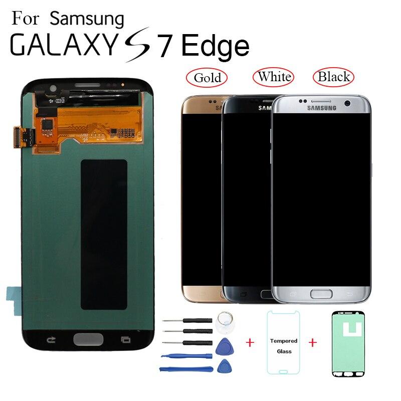 AMOLED Pour Samsung Galaxy S7 bord G935F G935FD Affichage écran lcd remplacement pour Samsung G935W8 G9350 lcd module d'affichage écran