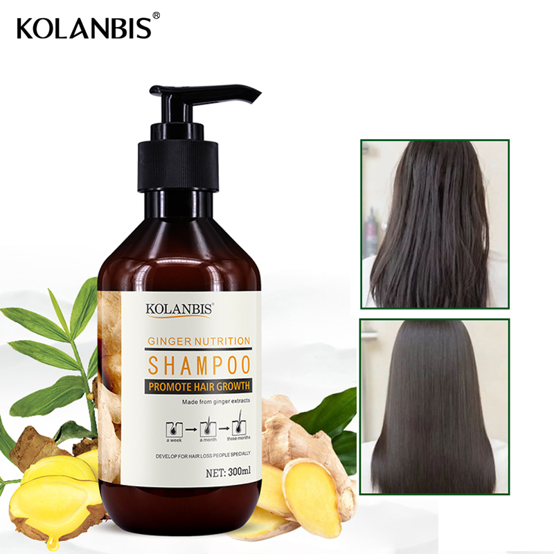 Hair Ginger Anti Thinning Shampoo Anti Dandruff Natural Growth Essence Fast Anti Hair Loss Products Oil Control Treatment image
