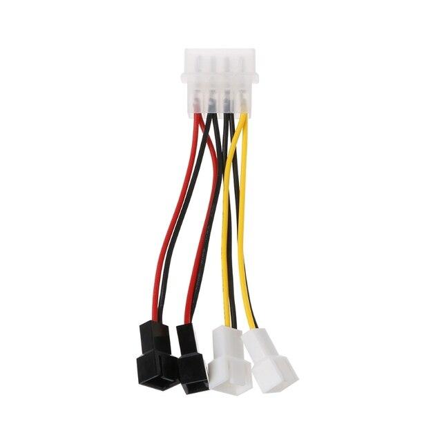 1 шт. IDE/SATA Molex 4-Pin к 4X 3-контактный TX3 корпусное Охлаждение вентилятором Мощность адаптер конвертер кабель