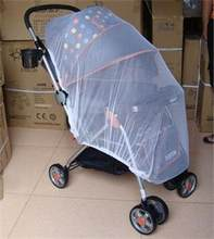 New Hot White Infants Baby Stroller Pushchair Mosquito Insect Net Safe Mesh Buggy Crib Netting Fly Midge Insect Bug Cover(China)
