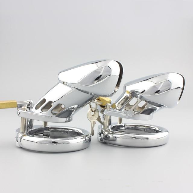 Мане эротического сталь металл целомудрие петух замок реалистичные пенис клетка устройство cockring взрослых секс игрушки продукты игры для двоих cb6000