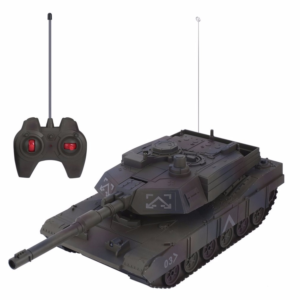 1:14 4CH Simulation RC Military Tank Turret Rotation Light & Music Remote Control Model Long Distance Control Kids Boy Toys Gift baby toys rc tank boy toys amphibious tank 4ch 1 30 large rc tank toy remote control tank fire bb bullets shooting gift for kids