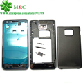 Original i9100 Full Housing For Samsung Galaxy S2 i9100 Cover Case Front Middle Frame Battery Back Cover With Tracking