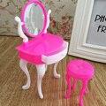 Miúdos das crianças Do Bebê da Menina Bonito Encantador Mini Toy 'toy acessórios de moda maquiagem conjunto de cadeira cômoda
