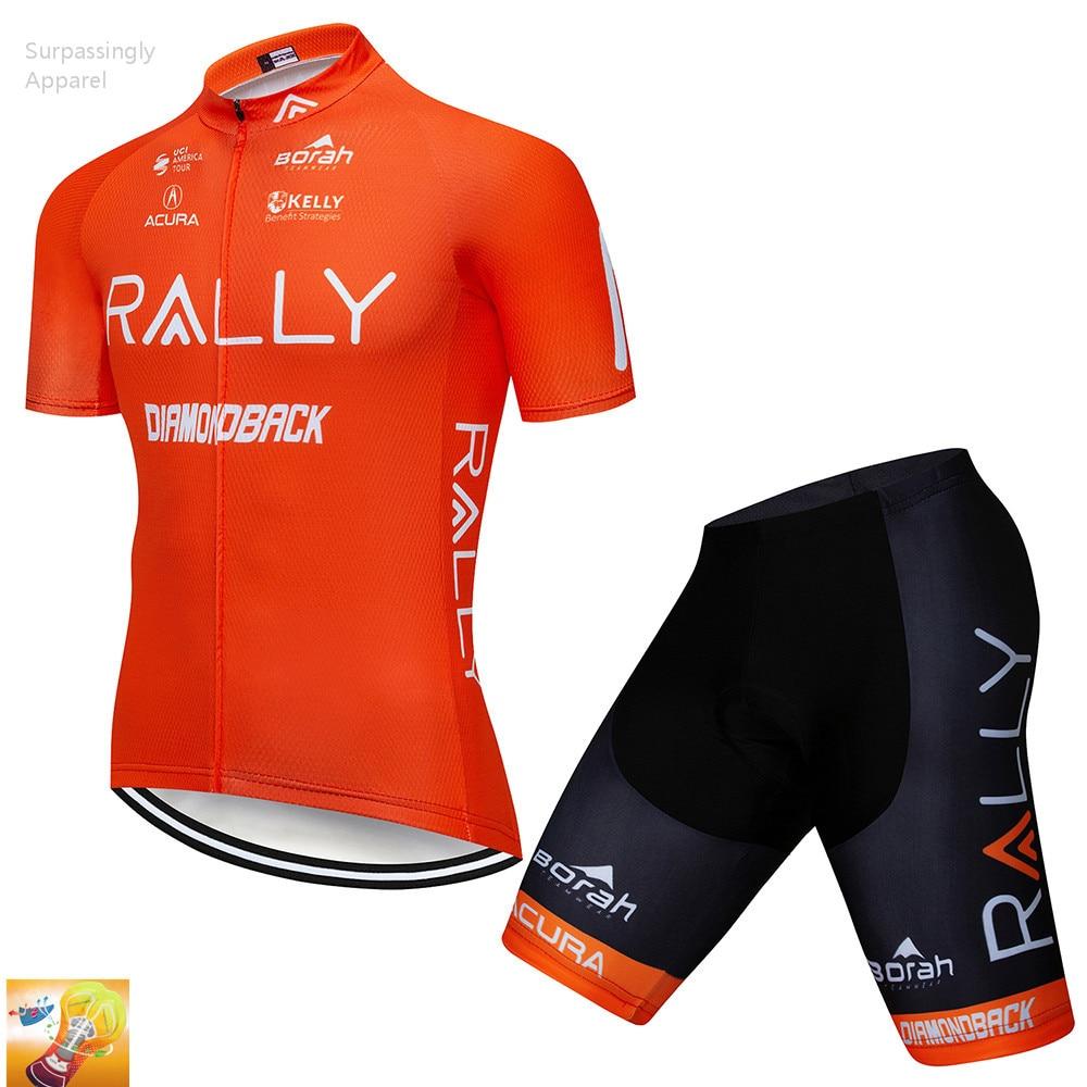 2019 Orange UCI équipe cyclisme Jersey été à manches courtes cyclisme ensemble vélo vêtements Ropa Ciclismo vtt vélo costume 16D Gel Pad|Jeux de vélo| |  -