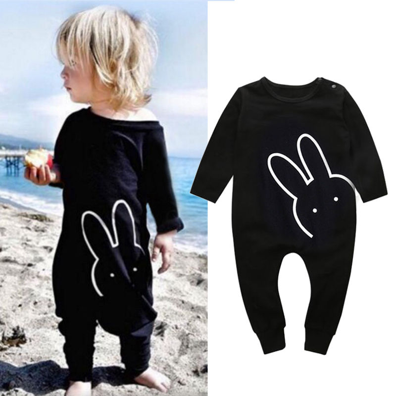 0-3Y Newborn Baby Boy Girl Clothes Autumn Spring Long Sleeve Cotton Cute Rabbit Romper s Clothing Outfit new baby boy s tattoo printed long sleeve patchwork cotton romper spring autumn newborn jumpsuit bebe toddler stitch costume